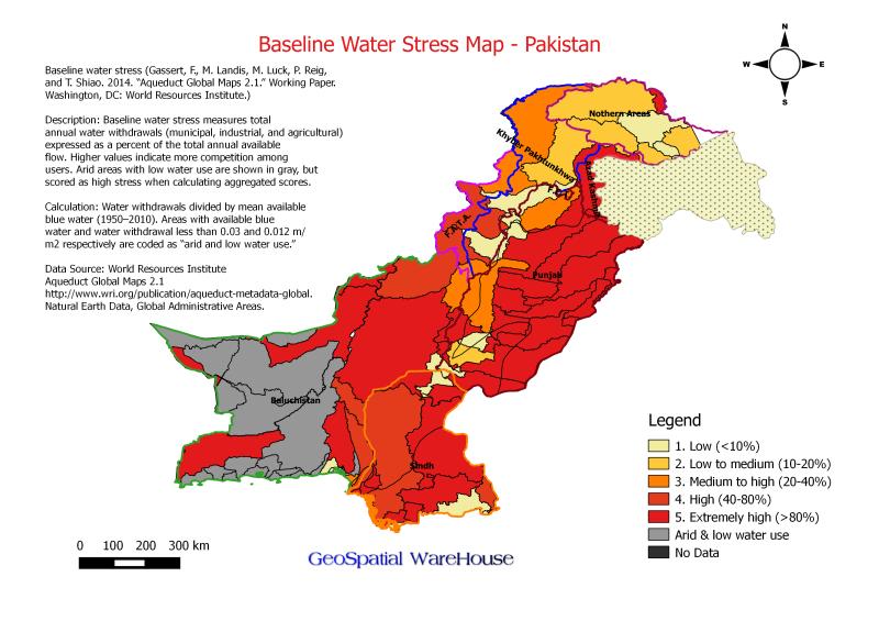 BaselineWaterStressMapofPakistan